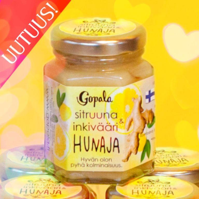 sitruuna inkivääri hunaja gopala uutuus